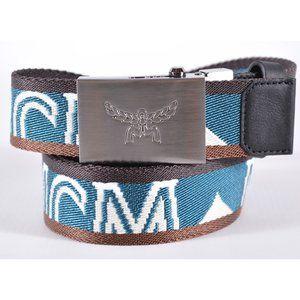 MCM Men's Contrast Logo Cut to Fit One Size Belt